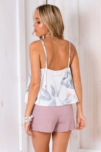 Becca Top - White Floral