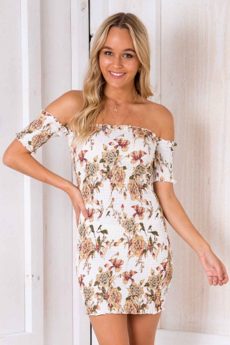 September Dress - White Floral
