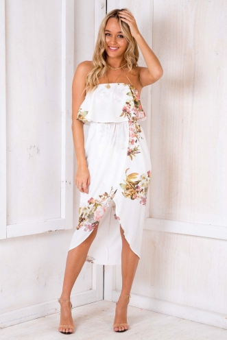 Denise Dress - White Floral