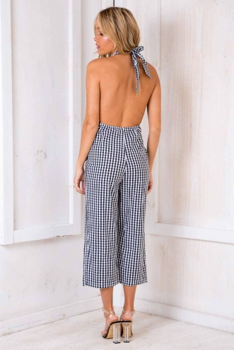 Jolie Jumpsuit - Black/White