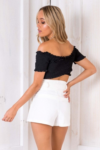 Shayla Crop Top - Black