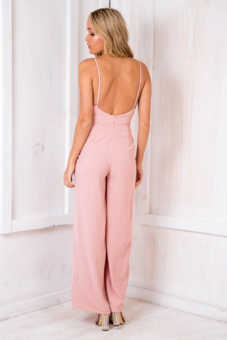 Nia Jumpsuit - Dusty Pink