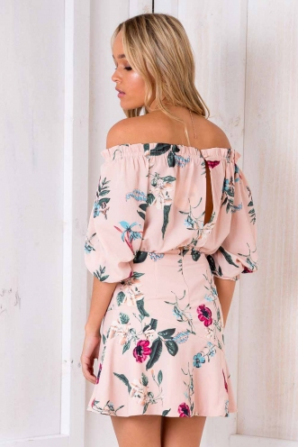 Silver Springs Dress - Pink Floral