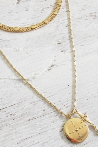 Minc Collections - Ziggy Pendant Necklace - Gold