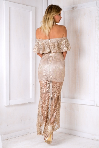 Violet evening dress - Gold