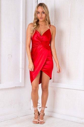 Vineyard Wrap Dress -Red Wine