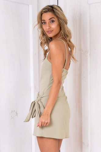 No Reason Dress - Light Khaki