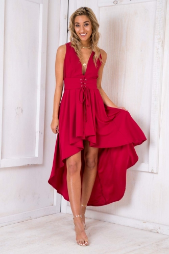 Cinderella Dress - Maroon