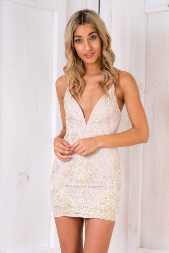 Fight Like A Girl Dress - Blush Sparkle