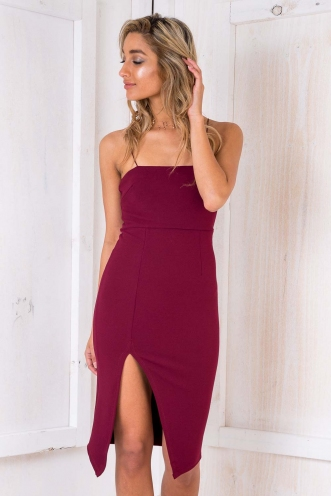 Rome Dress - Maroon