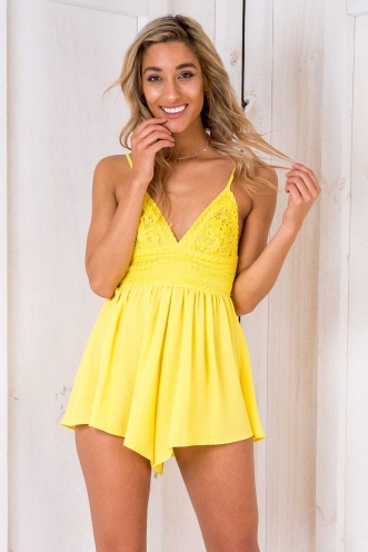Zeppole Playsuit - Yellow