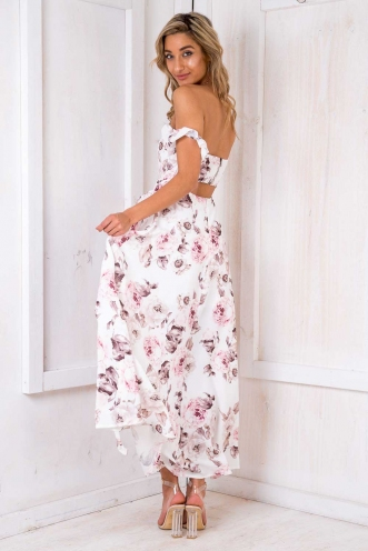 Turkey Travels Maxi Dress - White Design