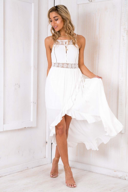 Beach Bum Dress White Sale Stelly