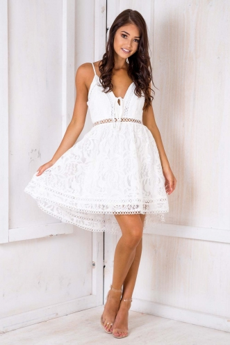 Lady Dress - White