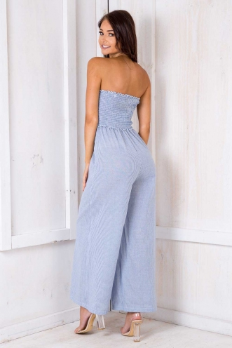 Alive Jumpsuit - Blue/ White Stripe