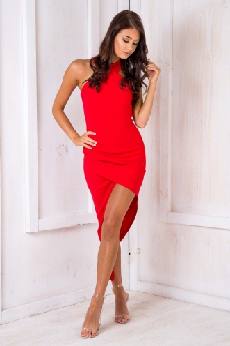 Tahnee Evening Dress - Red