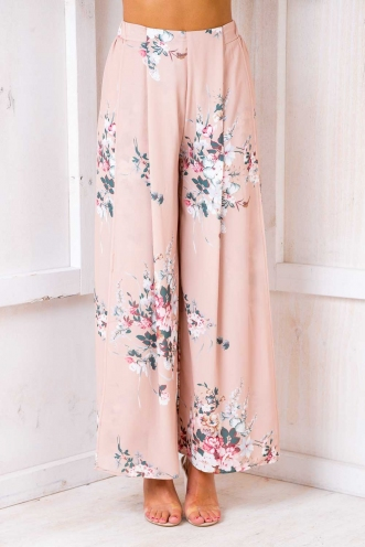 Sugar Plum Pants - Beige Floral