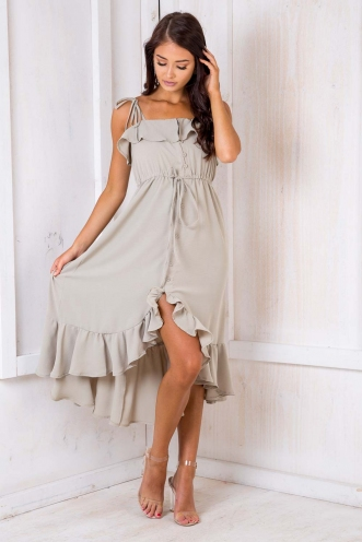 Pebbles Flinstone Dress - Light Khaki