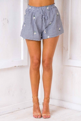 Snuour Shorts - Black/ White Chequered