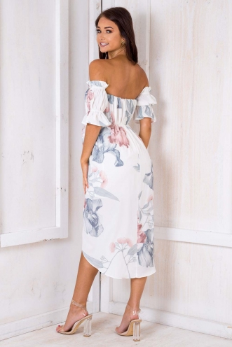 Caterina Dress - White Print