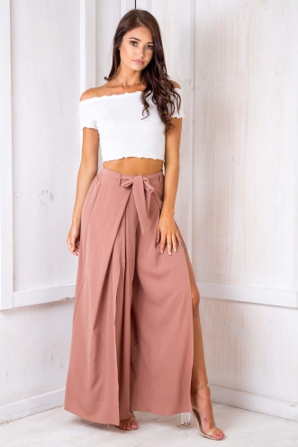 Paris crepe pants - Peach
