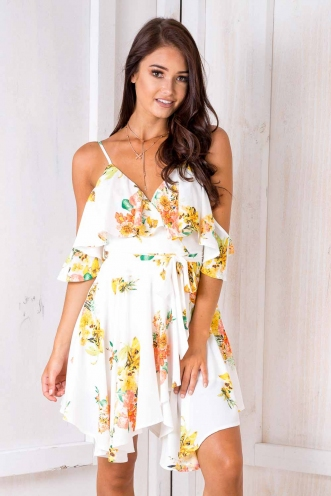 Dance Fever Dress - White Floral