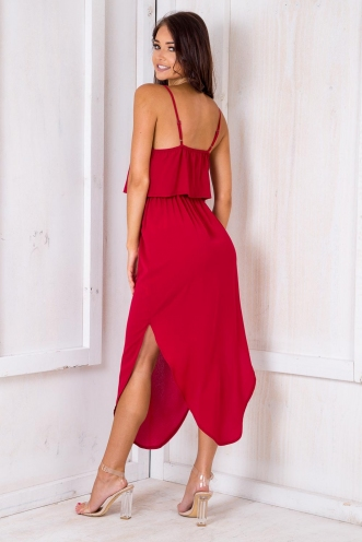 What I Want Relaxed Maxi Dress - Maroon