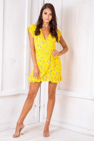 Belle Dress - Yellow Floral