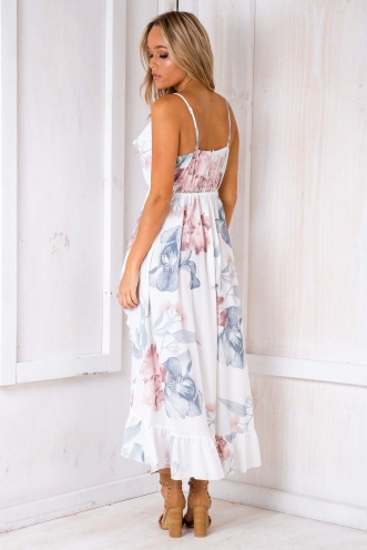 Pure Shores Dress - White Floral
