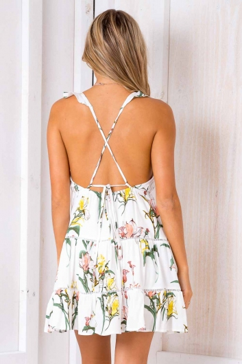 Lost Lover Dress - White Floral