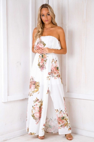 We Found Love Dress - White Floral