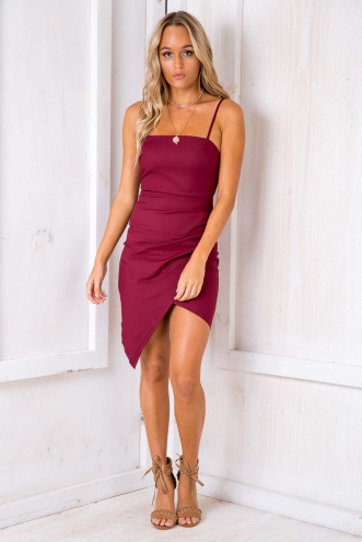 Thinking Out Loud Dress - Maroon