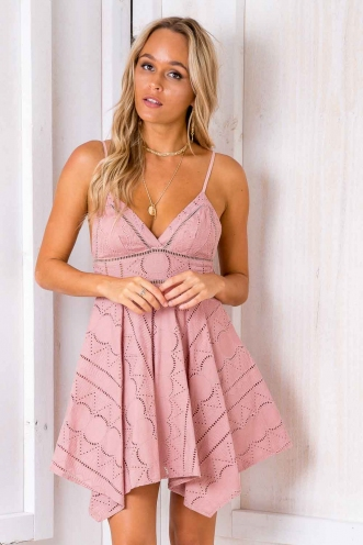 Crazy In Love Dress - Blush