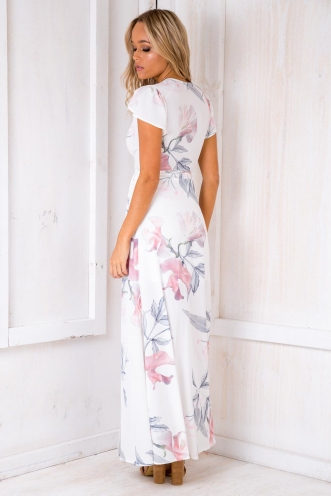 Born Free Maxi Dress - White Design