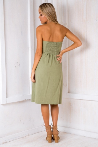 Good For You Dress - Khaki