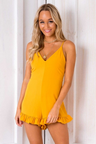 Break Free Playsuit - Mustard