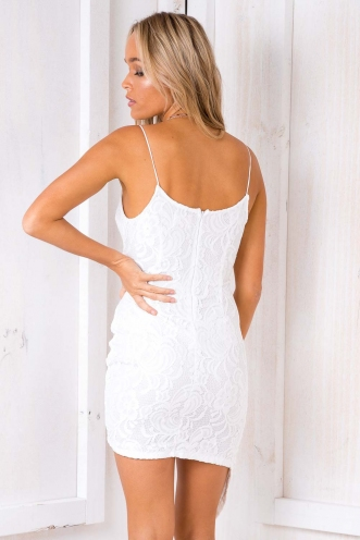 German Chocolate Cake Dress - White Lace