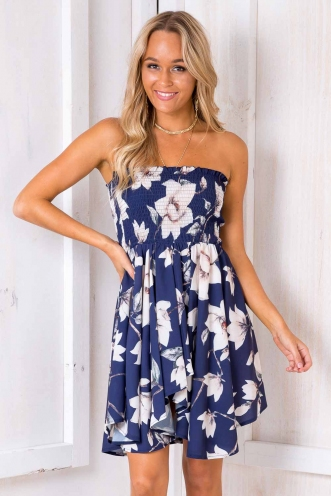 We Belong Together Dress - Navy Floral