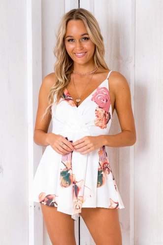 Luciana Playsuit - White Design