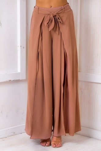 Paris Crepe Pants - Brown