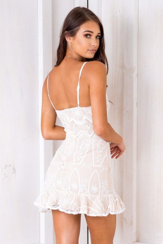 Piper Dress - Nude Lace