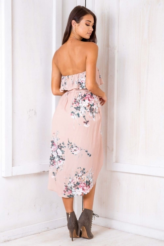 Denise Dress - Beige Floral