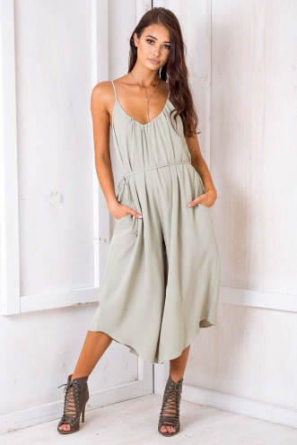 Same Love Jumpsuit - Light Khaki