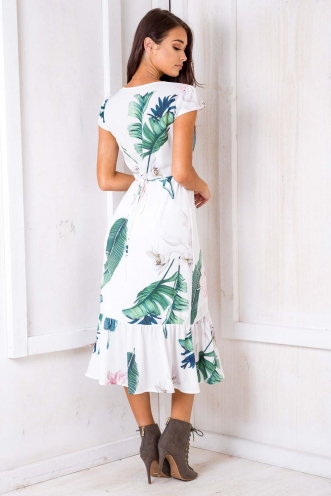 Don't Wake Me Up Dress - White Floral