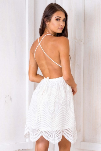 Rack City Dress - White