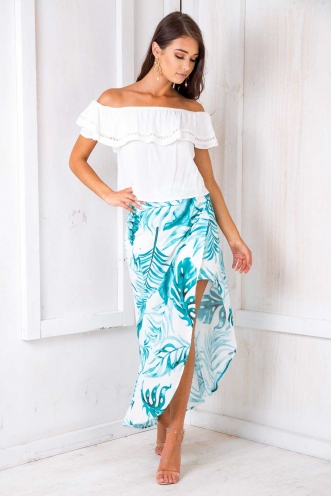 How We Do Skirt - White Print