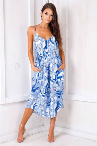 Same Love Jumpsuit - Blue Print