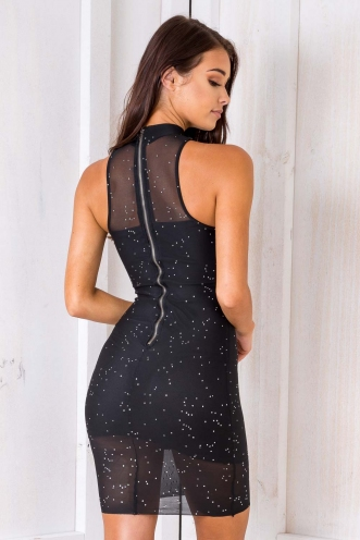 Charlie Dress - Black Sparkle