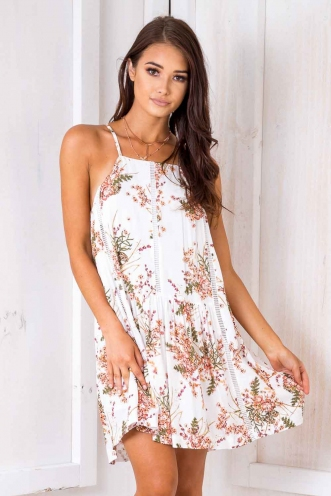 Percy Dress - White Floral