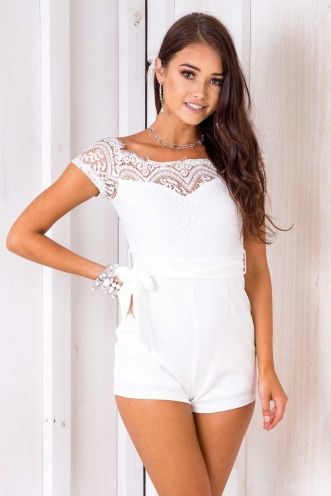 Jammie Dodgers Playsuit - White